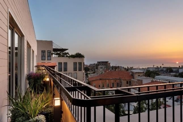מלון דריסקו תל אביב שקיעה
